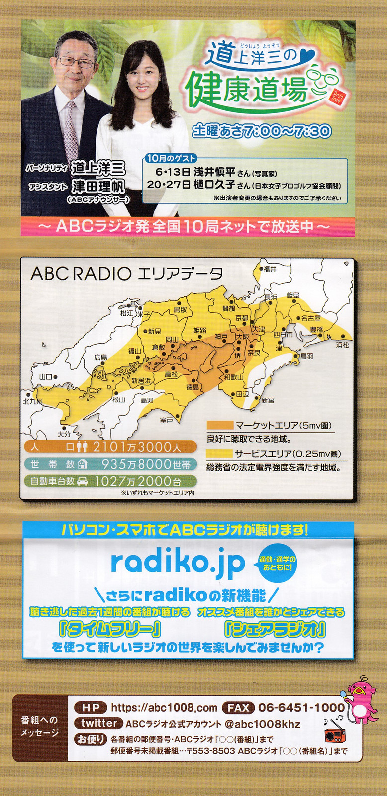 ラジオ 表 abc 番組