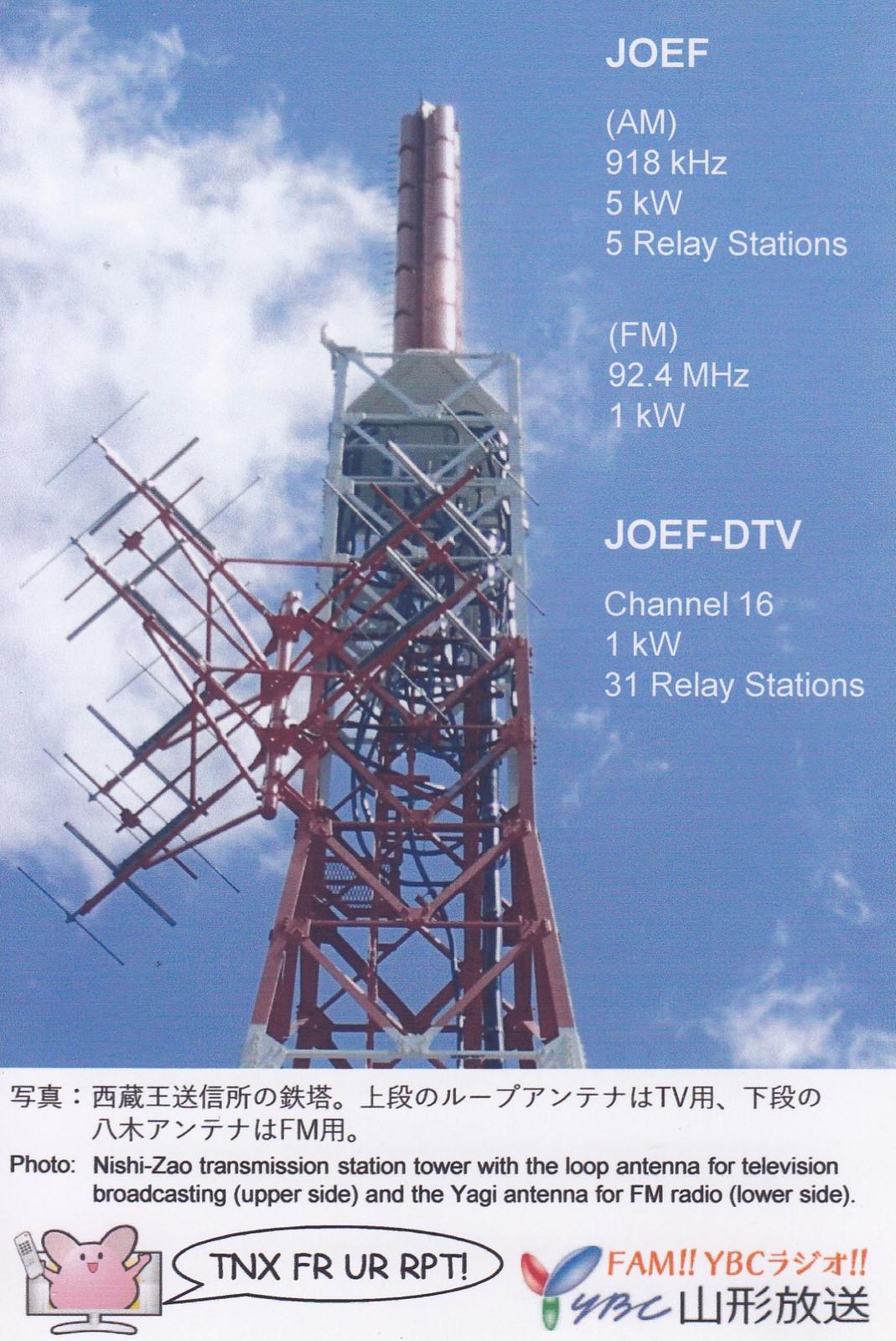 山形放送 YBCラジオ ベリカード: BCLとライセンスフリーラジオの日記